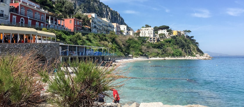 Capri: le spiagge di sabbia
