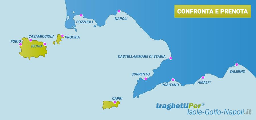 Mappa Golfo di Napoli